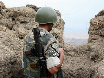 Armenian contract soldier wounded in border shooting by Azeri troops
