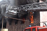 Two firemen suffered in Spayka freight forwarding company building blaze