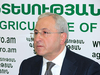 Armenian agriculture minister says agro sector will post 8-9% growth in year's out
