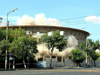 Yerevan circus' dome blown up for reconstruction