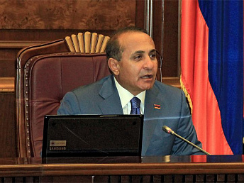 Armenian Parliament Speaker denies allegations about his intention to take up prime-ministerial seat