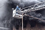 """Spayka"" freight forwarding company building on fire in Yerevan"