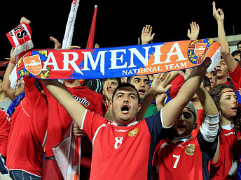 Armenia's under 21 soccer team in group 10 for 2013-2015 UEFA Championship
